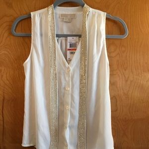 NWT Michael Kors Sleeveless Blouse Size 2